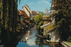 コルマーで買った絵葉書(レストランは確かこの川沿いにありました。)
