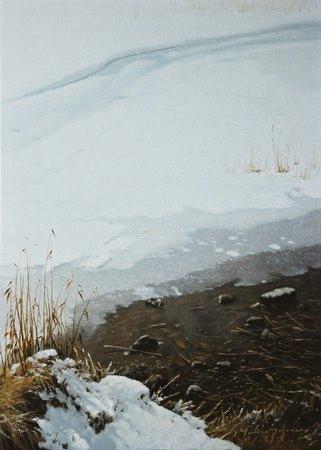 冬日(女神湖・薄氷)