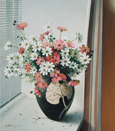 窓辺(コスモス)