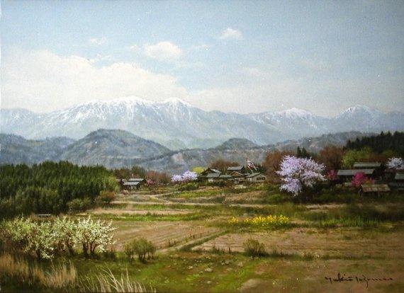 春光(残雪の鳳凰三山)