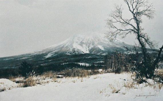 岩木山冬日(枯木平)